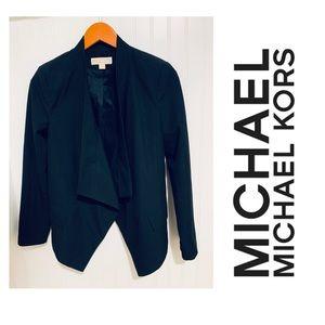 Michael Kors black high low open Blazer S